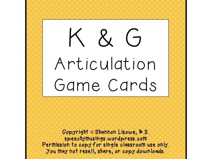 Free Articulation Worksheets