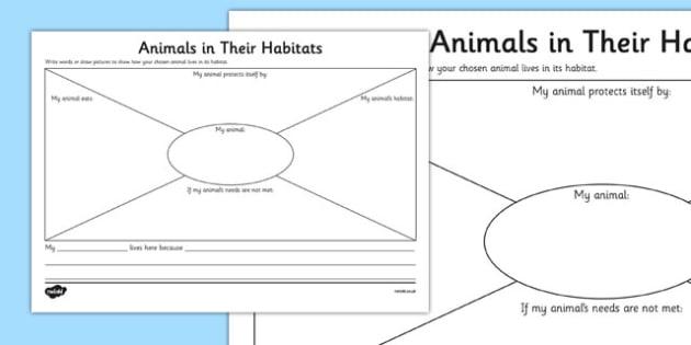 Animals In Their Habitats Worksheet