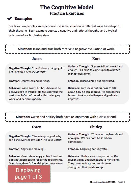 Cbt Practice Exercises (worksheet