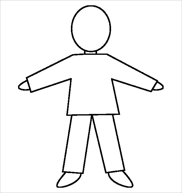 18+ Body Outline Templates