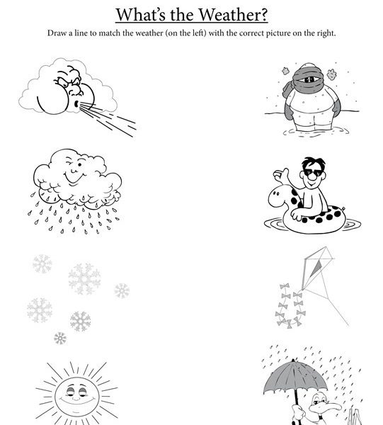 Weather Worksheets For Preschoolers