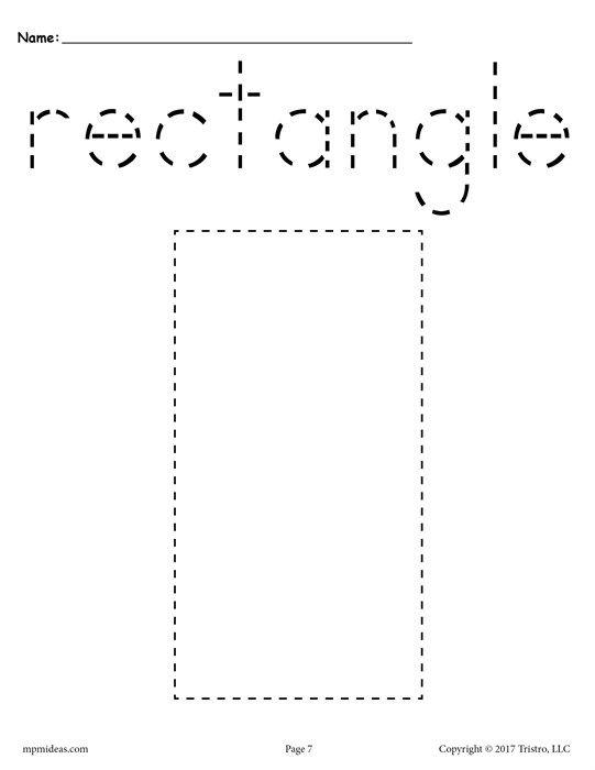 12 Shapes Tracing Worksheets