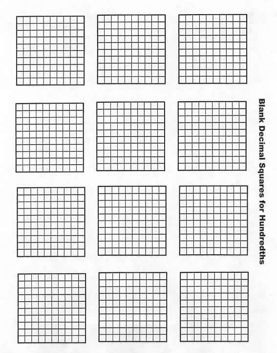 Welcome To Decimal Squares Program