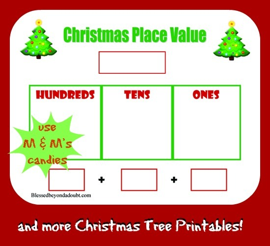 Christmas Place Value Worksheet And Much More!