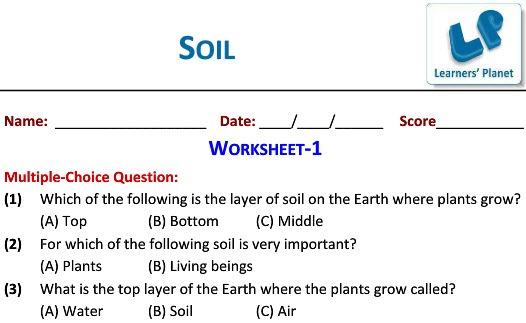 Grade 3 Science Worksheets On Soil Ncert Study Material