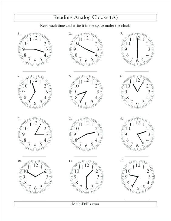 Clock Practice Worksheets 2nd Grade Main Ideas Worksheets High