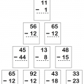Subtraction Of 2 Digit Numbers Worksheets