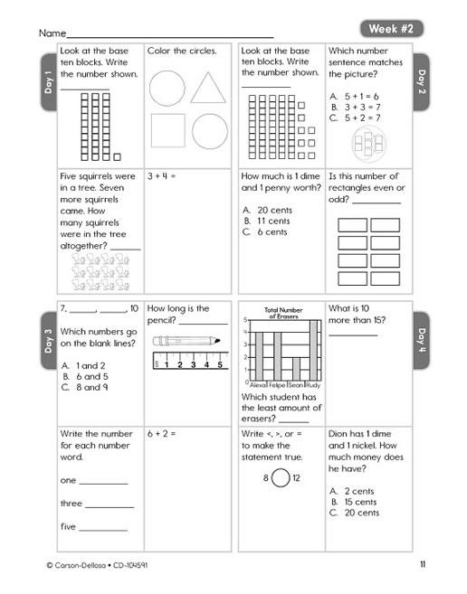 Common Core Math 4 Today Grade 2