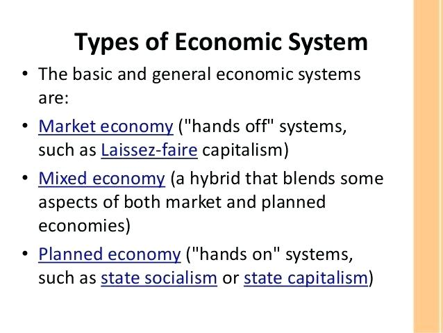 Comparing Economic Systems Worksheet Types Of Economic Systems
