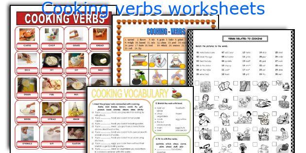 Cooking Verbs Worksheets