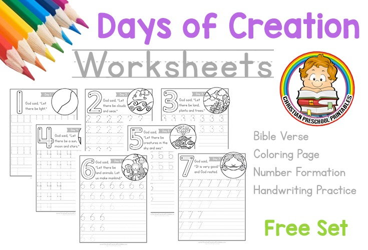 Days Of Creation Worksheets