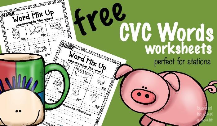 Free Cvc Word Worksheets