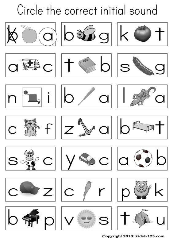Alphabet & Phonics Worksheets