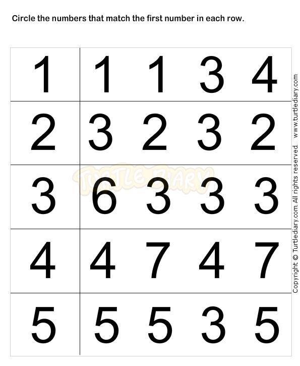 Learn Numbers Worksheet1