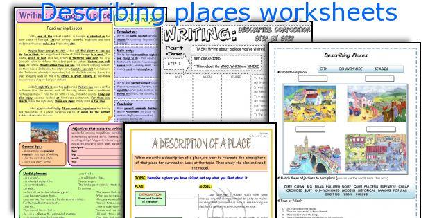 Describing Places Worksheets