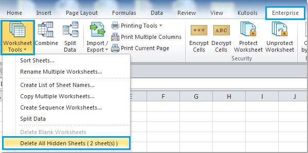 How To Delete Hidden Worksheets In Excel