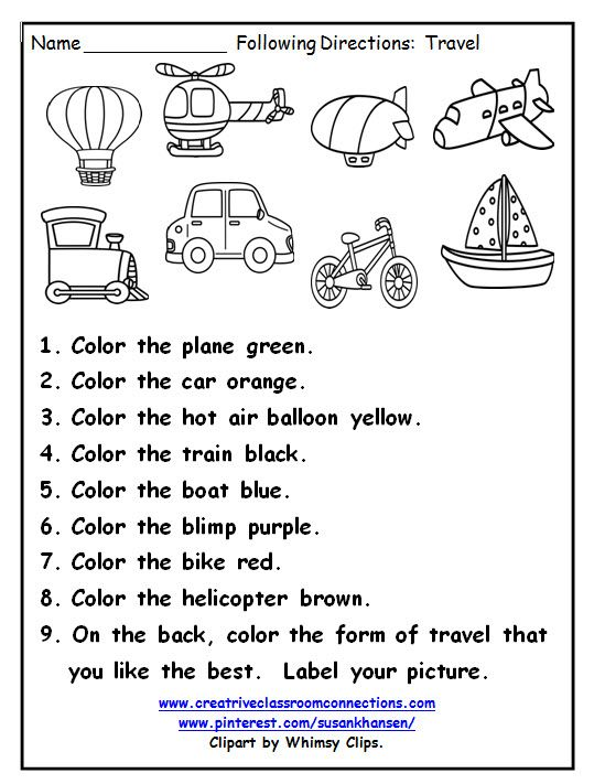 This Great Printable Provides Practice For Students Following