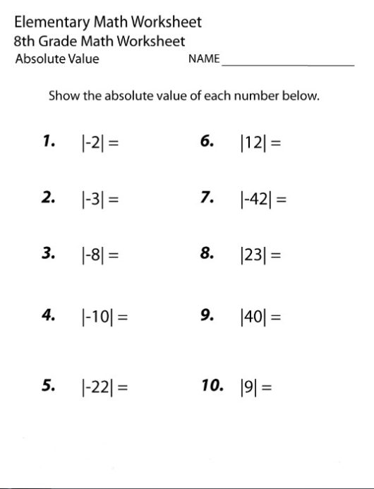 Endearing Maths Worksheets Year 8 Printable With 8th Grade Math