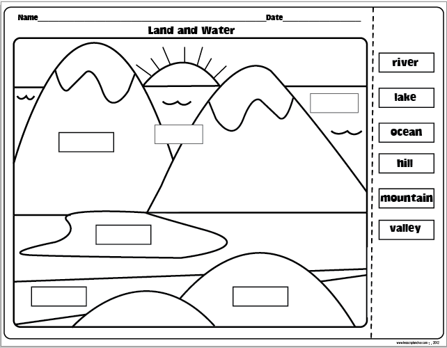 The Lesson Plan Diva  Landforms And Bodies Of Water Freebie!