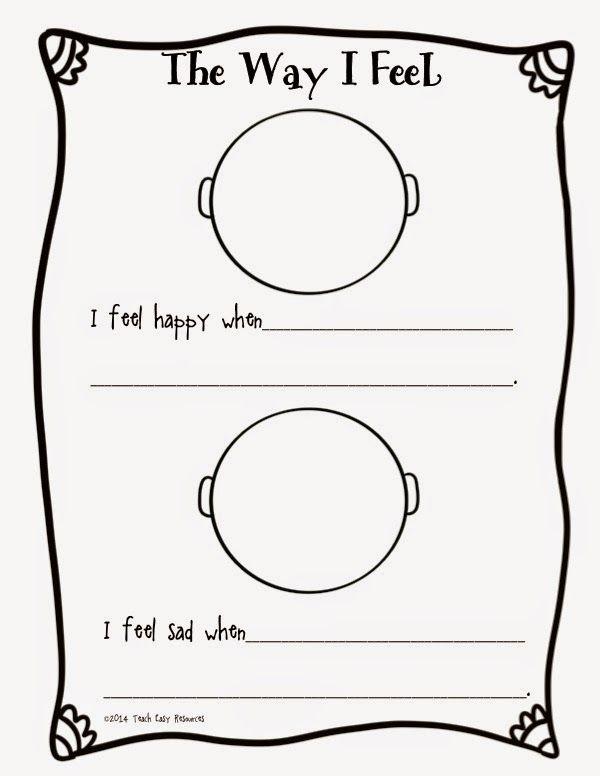 Feelings Worksheet And Mini