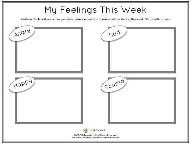 Help Children Track And Reflect On Their Feelings Weekly With This
