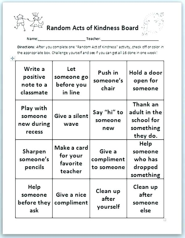 Kindness Acrostic Teaching Poetry Free Worksheets Grade Classroom