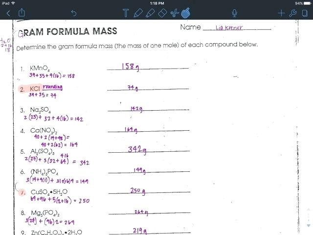 Formula Or Molar Mass Worksheet Answers – Myclothdiapers Info