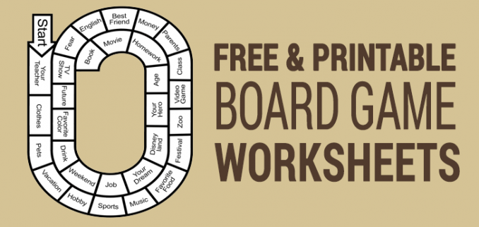 10 Best Free Printable Board Games For Esl Classrooms