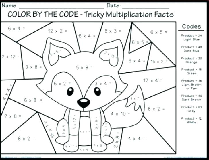 Free Printable Math Mystery Picture Worksheets Addition Color By
