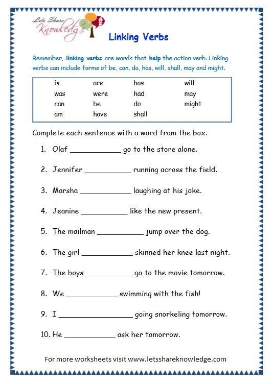 Second Grade Grammar Worksheets