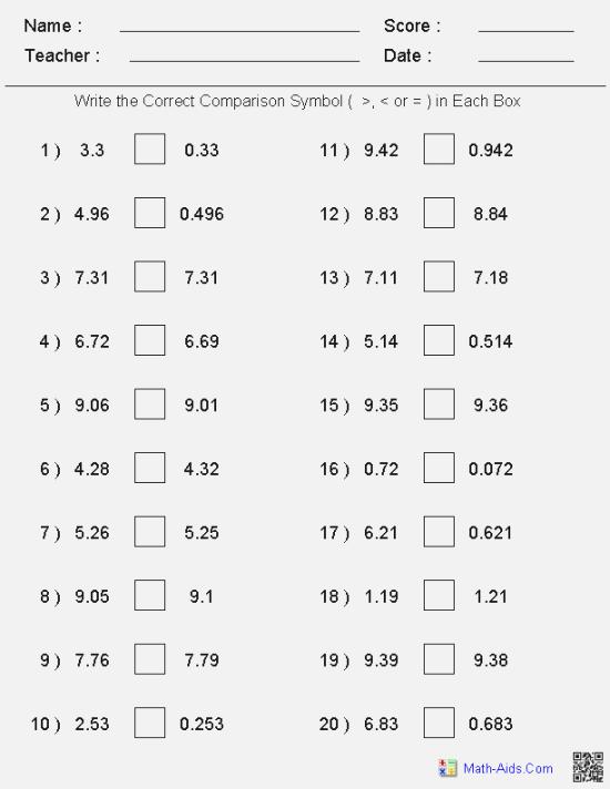 Best Slobbery 42rd Grade Fraction Test Printable
