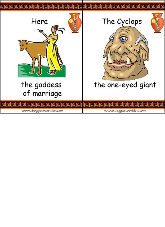 Greek Mythology Flashcard Game