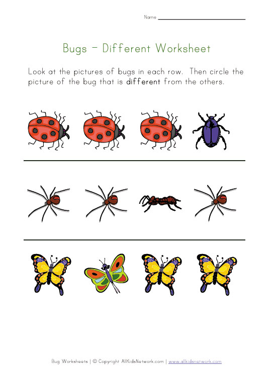 Download Insect Printables For Preschoolers