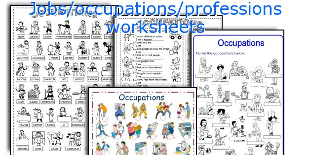 Jobs Occupations Professions Worksheets