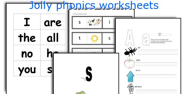 Jolly Phonics Worksheets
