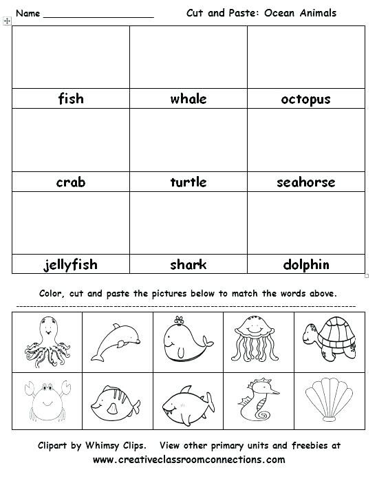K Cut And Paste Worksheets Thanksgiving Worksheet 1 Color Word