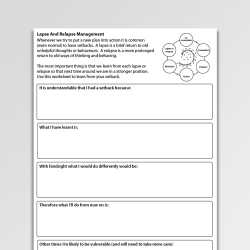 Addictions Worksheets For Professionals And Self