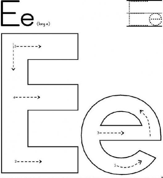 Free Printable Letter E Worksheets For Kindergarten & Preschool