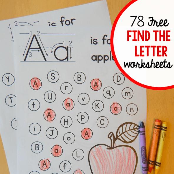 Free  Find The Letter  Alphabet Worksheets!