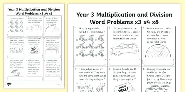 Math Worksheets Grade 3 And 4 – Makinterests Com