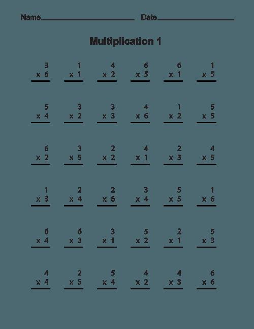 Free Printable Multiplication Worksheets – Tim's Printables