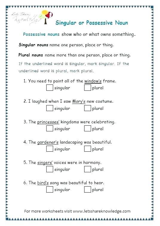 Singular And Plural Worksheets