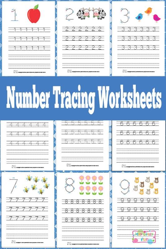 Number Tracing Worksheets Free Printable