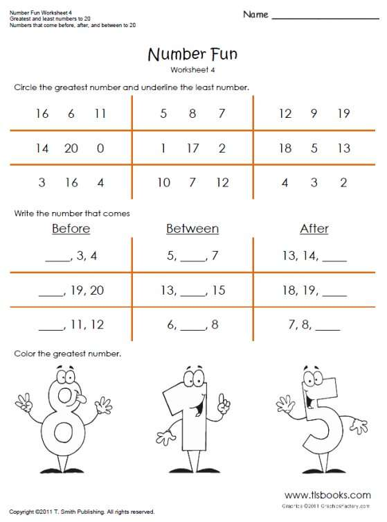 Number Fun Worksheets 3 And 4