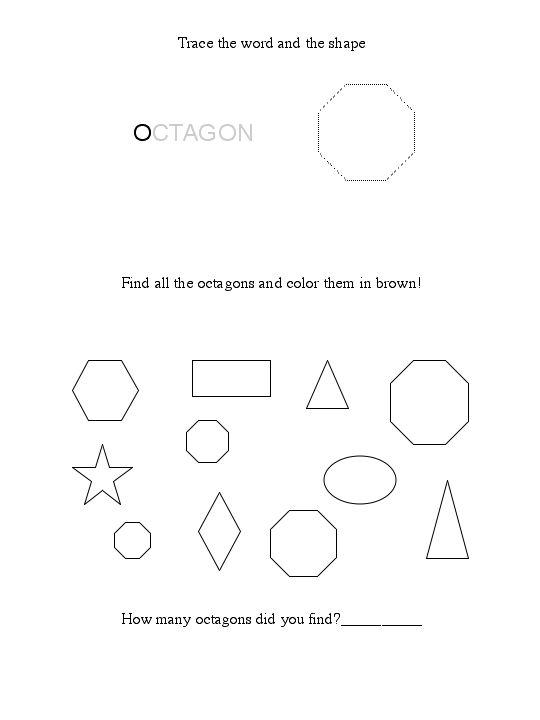 Free Octagon Worksheet