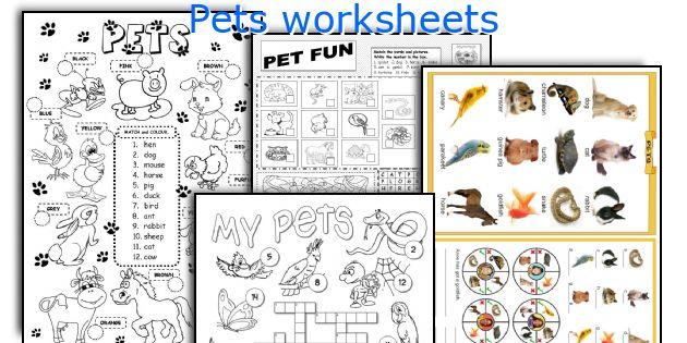 Pets Worksheets