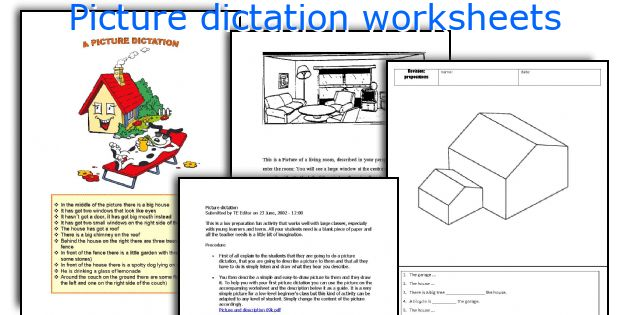 Picture Dictation Worksheets