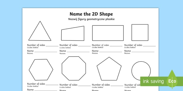 Name The 2d Shape English Polish