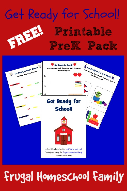 Get Ready For School! Pre K Printable Worksheets