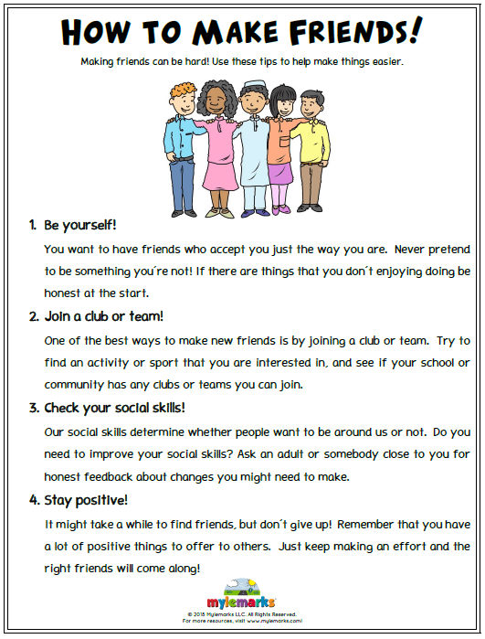 Healthy Relationship Worksheets For Kids And Teens